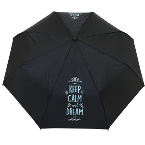 Parapluie pliant bleu femme automatique