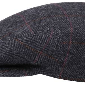 Casquette plate Kent Wool Ivy Cap With Earflaps Stetson anthracite