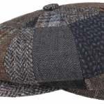 Casquette Gavroche Hatteras Handmade Patchwork Stetson marron