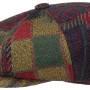 Casquette Gavroche Hatteras Upholstery Mix Stetson bleu-rouge