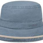 Chapeau Ladies Sun Hat Delave Organic Cotton Stetson bleu clair