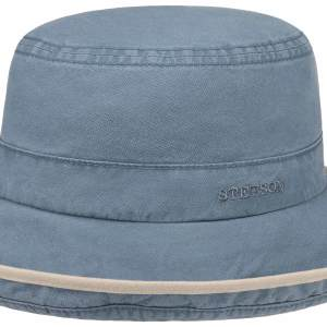 Chapeau Ladies Sun Hat Delave Organic Cotton Stetson bleu clair