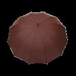 Parapluie droit homme automatique marron
