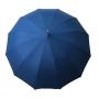 Parapluie droit homme automatique bleu poignée en bois