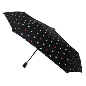Parapluie pliant Pois nuages rouge femme automatique