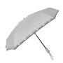 Parapluie pliant I love rain gris femme automatique