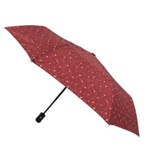 Parapluie pliant Magritte rouge femme automatique