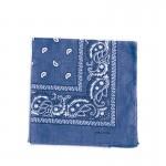 Carré foulard bandana coton bleu jean 55 x 55
