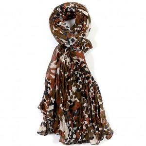Etole marron coton camouflage torsadée 110 x 180