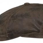 Casquette plate McCook Stetson cuir marron