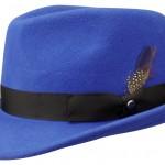 Chapeau trilby Elkader Stetson bleu royal