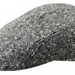 Casquette plate Madison Donegal Stetson tweed noir