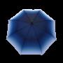 Parapluie droit femme automatique transformation dégradé de bleu