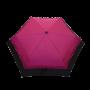 Parapluie pliant femme automatique froufrou fuchsia et noir