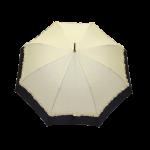 Parapluie droit femme automatique froufrou écru et noir