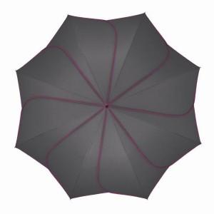 Parapluie droit mixte automatique Sunflower Pierre Cardin gris et fuchsia