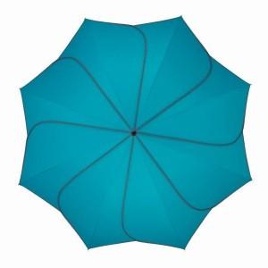 Parapluie droit mixte automatique Sunflower Pierre Cardin turquoise et gris
