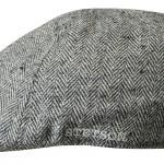 Casquette plate Poteau Silk Stetson gris