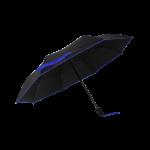 Parapluie pliant femme automatique noir petite bordure bleu