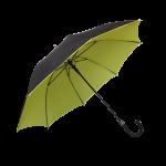 Parapluie droit mixte automatique noir et jaune