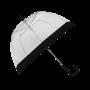 Parapluie cloche femme transparent bordure noir