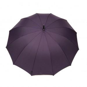 Parapluie droit mixte automatique dôme uni violet