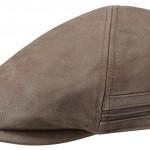 Casquette plate Redding Stetson cuir marron + protège-oreilles rabattables en polaire