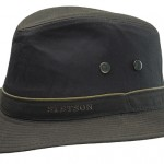 Chapeau Traveller Ava Waxed Cotton Stetson marron foncé