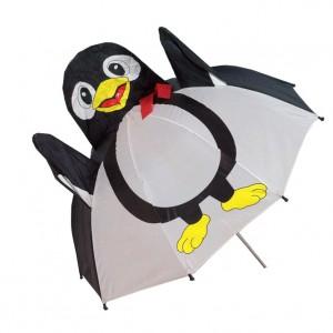 Parapluie droit enfant automatique pingouin