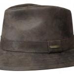 Chapeau Elkhart Stetson cuir marron