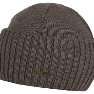 Bonnet en tricot Northport Merino Wool Stetson taupe