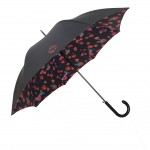 Parapluie droit femme automatique pétale