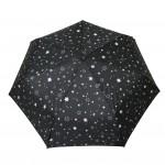 Parapluie pliant femme automatique étoiles blanc