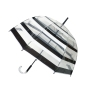 Parapluie cloche rayures femme automatique transparent