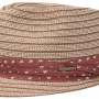 Chapeau trilby Stripe Braid Stetson marron-beige