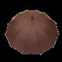 Parapluie droit homme automatique marron poignée en bois