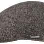 Casquette plate Texas Wool Herringbone Stetson gris