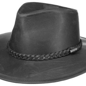 Chapeau Western Buffalo en cuir Stetson noir