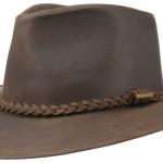 Chapeau Western Buffalo en cuir Stetson marron foncé