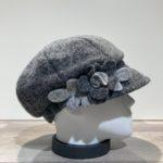 Casquette gavroche gris clair élastiquée doublure polaire