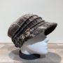 Casquette cubaine taupe élastiquée doublure polaire