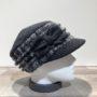 Casquette cubaine noir et gris élastiquée doublure polaire