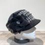 Casquette cubaine noir-gris élastiquée doublure polaire