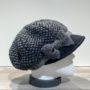 Casquette gavroche gris et noir élastiquée doublure polaire