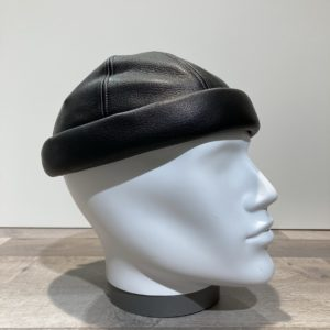 Bonnet Docker cuir noir