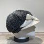 Casquette gavroche grise et écru élastiquée doublure polaire
