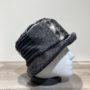Chapeau cloche Patch noir-gris doublure polaire