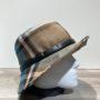 Chapeau bob marron-taupe-bleu canard doublure polaire