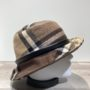 Chapeau bob marron-taupe-chocolat doublure polaire