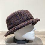 Chapeau bob marron-marine doublé